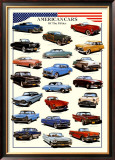Cars American Cars of Fifties Posters