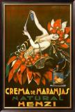 Henzi Orange Cream Soda Framed Giclee Print by Achille Luciano Mauzan