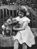 Princess Elizabeth of York in the Garden Photographic Print