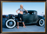 Pin-Up Girl: Deuce Coupe Rock a Billy Framed Giclee Print by David Perry