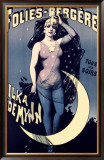 Folies Bergere, Moonlit Night Framed Giclee Print