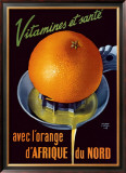 Vitamines et Sante Framed Giclee Print by Roland Ansieu