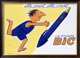 La Pointe Bic Framed Giclee Print by Raymond Savignac