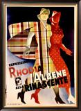 La Rinascente, Esposizione Rhodia Albene Framed Giclee Print by Marcello Dudovich