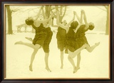 Snow Women Modern Dance Framed Giclee Print