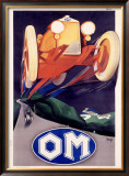 OM Roadster Framed Giclee Print by Marcello Nizzoli