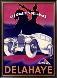Delahaye Framed Giclee Print by Fell