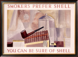 Smokers Prefer Shell Framed Giclee Print by Charles Shaw