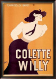 Colette Willy Framed Giclee Print by Sem