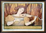 Lecons de Violin Framed Giclee Print by Paul Berthon
