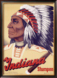 Indiana Stumpen Framed Giclee Print by Johannes Handschin