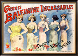 Corsets Baleinine Incassables Framed Giclee Print by Alfred Choubrac