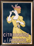 Citronnade Pineapple Drink Framed Giclee Print by Leonetto Cappiello