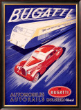 Bugatti Framed Giclee Print by R. Geri