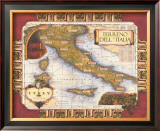 Wine Map of Italy Art