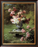 Peonies in a Wild Garden Art by Louis-Marie Lemaire