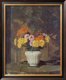 Zinnias And Marigolds Art by Hermann Dudley Murphy
