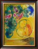 Sun and Mimosas Art by Marc Chagall