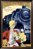 German Railway, Spring Framed Giclee Print