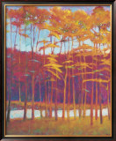 Red Trees at Creek Limited Edition Framed Print by Ken Elliott