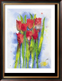 Red Tulips Prints by Witka Kova