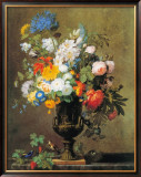 Vase of Flowers Print by Jean-Francois Bony
