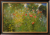 Garden Is A Sea Of Flowers Prints by Ross Sterling Turner