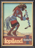 Santa Fe Railroad: Hopiland, c.1940's Poster by Don Perceval
