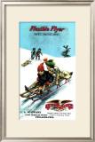 Flexible Flyer Sled Framed Giclee Print