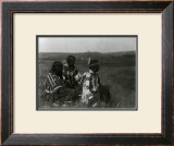 Overlooking the Camp Poster by Edward S. Curtis