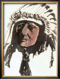 Sleeping Bear, Sioux Art by Leonard Baskin