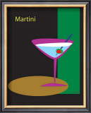 Martini in Black Framed Giclee Print by  ATOM