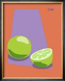 Lime Framed Giclee Print by  ATOM