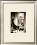 Reminiscing in the Window II Prints by Lesley G. Aggar