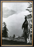 Praying to the Spirits at Crater Lake, Klamath Prints by Edward S. Curtis