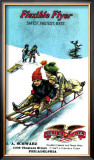 Flexible Flyer Sled Framed Giclee Print