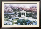 Garden Gazebo Prints by Diane Romanello