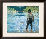 Salmon Fishing, 1927 Art by Frank Weston Benson