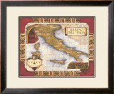 Wine Map of Italy Poster