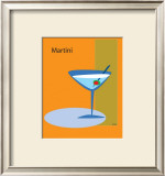 Martini in Orange Framed Giclee Print by  ATOM