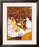 Femmes Dans un Jardin Print by Claude Monet