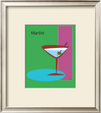 Martini in Green Framed Giclee Print by  ATOM