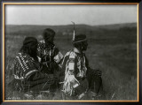 Overlooking the Camp Print by Edward S. Curtis
