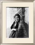 Young Girl Smiling Framed Giclee Print by Edward S. Curtis