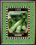 Leek Seed Pack Framed Giclee Print