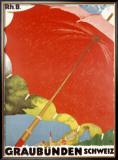 Graubunden Umbrella Framed Giclee Print