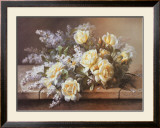 Still Life with Yellow Roses Poster by Raoul 