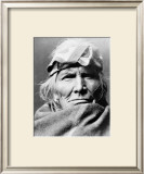 Zuni Elder Framed Giclee Print by Edward S. Curtis