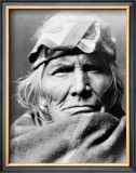 Zuni Elder Framed Giclee Print by Edward S. Curtis