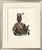 Saukie Chief Poster by  McKenney & Hall